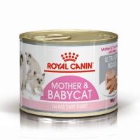 Royal Canin Mother & BabyCat, conservă hrană umedă pisici, mama și puiul, (pate fin),195g