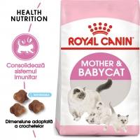 Royal Canin Mother & BabyCat, pachet economic hrană uscată pisici, mama și puiul, 2kg x 2