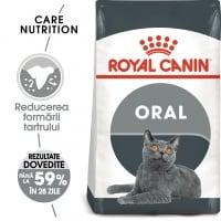 Royal Canin Oral Care Adult, hrană uscată pisici, reducerea formării tartrului, 400g