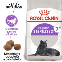 Royal Canin Sterilised 7+, pachet economic hrană uscată pisici sterilizate