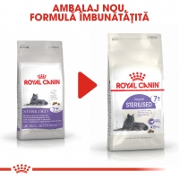 Royal Canin Sterilised 7+, pachet economic hrană uscată pisici sterilizate, 10kg x 2