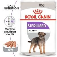 Royal Canin Sterilised Adult, plic hrană umedă câini sterilizați, (pate), 85g