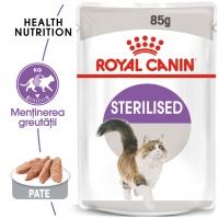 Royal Canin Sterilised Adult, plic hrană umedă pisici sterilizate, (pate), 85g