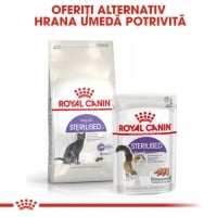 Royal Canin Sterilised Adult, pachet economic hrană uscată pisici sterilizate, 4kg x 2