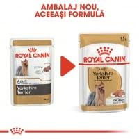 Royal Canin Yorkshire Terrier Adult, plic hrană umedă câini, (pate), 85g