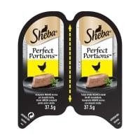 SHEBA Perfect Portions, Pui, tăviță hrană umedă pisici, (pate), 37.5g x 6
