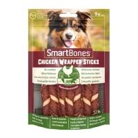 SMARTBONES Classics Chicken Warpped Sticks Mini, recompense câini, Batoane Pui, 9buc