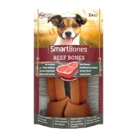 SMARTBONES Flavours Beef Bones Medium, recompense câini, Oase aromate Vita, 2buc