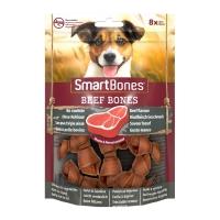 SMARTBONES Flavours Beef Bones Mini, recompense câini, Oase aromate Vita, 8buc