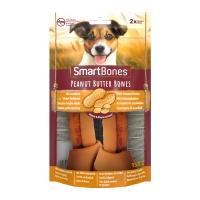 SMARTBONES Flavours Peanut Butter Bones Medium, recompense câini, Oase aromate Unt de Arahide, 2buc