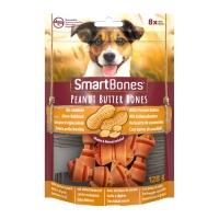 SMARTBONES Flavours Peanut Butter Bones Mini, recompense câini, Oase aromate Unt de Arahide, 8buc