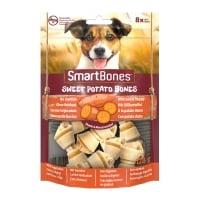 SMARTBONES Flavours Sweet Potato Bones Mini, recompense câini, Oase aromate Cartof Dulce, 8buc