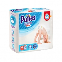 Scutece Chilotel Pufies Pants Sensitive Extra Large 6, 15+ Kg, 38 Buc