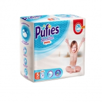 Scutece Chilotel Pufies Pants Sensitive Junior 5, 12-18 Kg, 42 Buc
