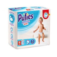 Scutece Chilotel Pufies Pants Sensitive Maxi 4, 9-15 Kg, 45 Buc