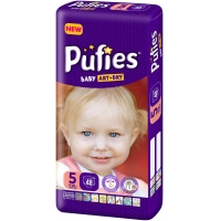 Scutece Pufies Baby Art Junior 5, Maxi Pack, 48 Buc
