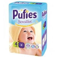 Scutece Pufies Sensitive Maxi 4, Small Pack, 18 Buc