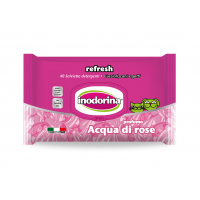 Servetele Inodorina Refresh Rose Water, 40 Buc