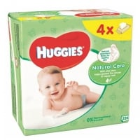 Servetele Umede Huggies Natural Care cu Aloe Vera, 4 x 56 buc