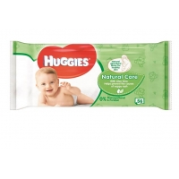 Servetele Umede Huggies Natural Care cu Aloe Vera, 56 buc