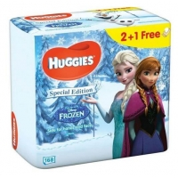 Servetele Umede Huggies Natural Care cu Aloe Vera, Frozen, 2 + 1, 168 buc