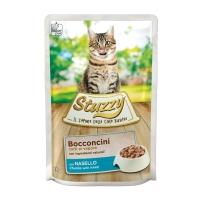Stuzzy, Cod, plic hrană umedă pisici, (bucăți în sos), 85g