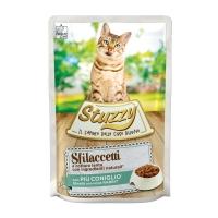 Stuzzy, Iepure, plic hrană umedă pisici, (fâșii în sos), 85g