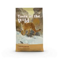 TASTE OF THE WILD Canyon River, Păstrăv și Somon, pachet economic hrană uscată fără cereale pisici, 2kg x 2