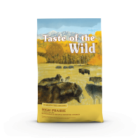TASTE OF THE WILD High Prairie, Bizon și Vânat, pachet economic hrană uscată fără cereale câini, 2kg x 2