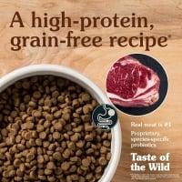 TASTE OF THE WILD High Prairie Puppy, Bizon și Vânat, hrană uscată fără cereale câini junior, 12.2kg