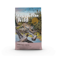 TASTE OF THE WILD Lowland Creek, Prepeliță și Rată, pachet economic hrană uscată fără cereale pisici, 2kg x 2