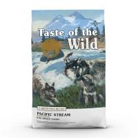 TASTE OF THE WILD Pacific Stream Puppy, Somon, pachet economic hrană uscată fără cereale câini junior, 2kg x 2