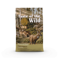 TASTE OF THE WILD Pine Forest, Vânat și Miel, pachet economic hrană uscată fără cereale câini, 12.2kg x 2
