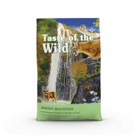 TASTE OF THE WILD Rocky Mountain, Vânat și Somon, pachet economic hrană uscată fără cereale pisici, 2kg x 2