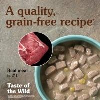 TASTE OF THE WILD Southwest Canyon, Vită, conservă hrană umedă fără cereale câini, (în sos), 390g