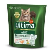 ULTIMA Cat Adult, Somon, hrană uscată pisici, 800g