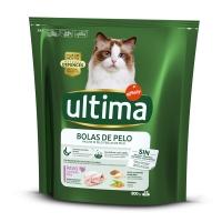 ULTIMA Cat Hairball Adult, Curcan, hrană uscată pisici, limitarea ghemurilor de blană, 800g