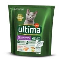 ULTIMA Cat Sterilised Adult, Somon, hrană uscată pisici sterilizate, 800g