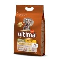 ULTIMA Dog Medium & Maxi Adult, Pui, hrană uscată câini, 3kg