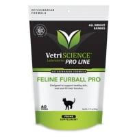 VETRI SCIENCE Feline Furball Pro Bite-sized Chews, suplimente piele și blană pisici, 60cpr masticabile
