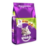 WHISKAS Adult, Miel, hrană uscată pisici, 1.4kg