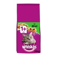 WHISKAS Adult, Miel, pachet economic hrană uscată pisici, 14kg x 2