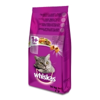 WHISKAS Adult, Miel, hrană uscată pisici, 14kg