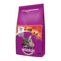 WHISKAS Adult, Vită, hrană uscată pisici, 1.4kg