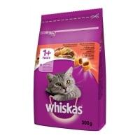 WHISKAS Adult, Vită, hrană uscată pisici, 300g