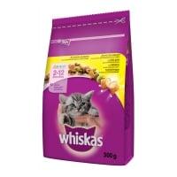 WHISKAS Junior, Pui, hrană uscată pisici junior, 300g
