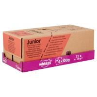 WHISKAS Selecții Clasice Junior, 4 arome, pachet mixt, plic hrană umedă pisici junior, (în sos), 100g x 4