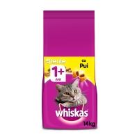WHISKAS Sterile, pachet economic hrană uscată pisici sterilizate, 14kg x 2