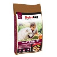 Pachet 2 x Nutraline Dog Adult Grain Free, 12.5 kg