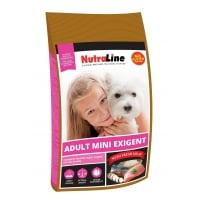 Pachet 2 x Nutraline Dog Adult Mini Exigent, 8 kg